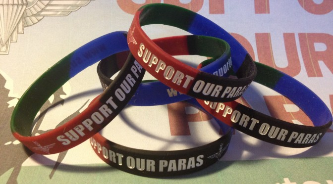 SupportOurParas wristbands